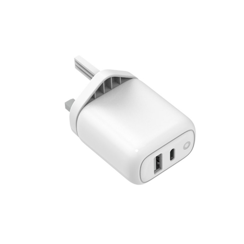 36W PD and Qualcomm Quick Charge 3.0 Charger with Type-C to Lightning Cable