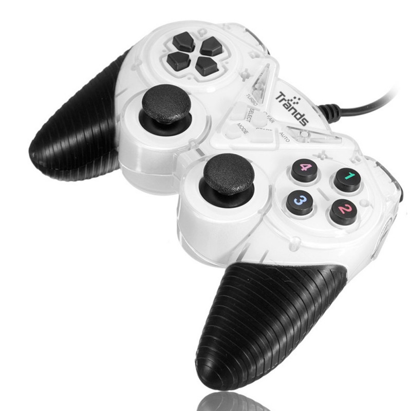 USB 2.0 Wired Dual Shock Joystick for PC Laptop Computer