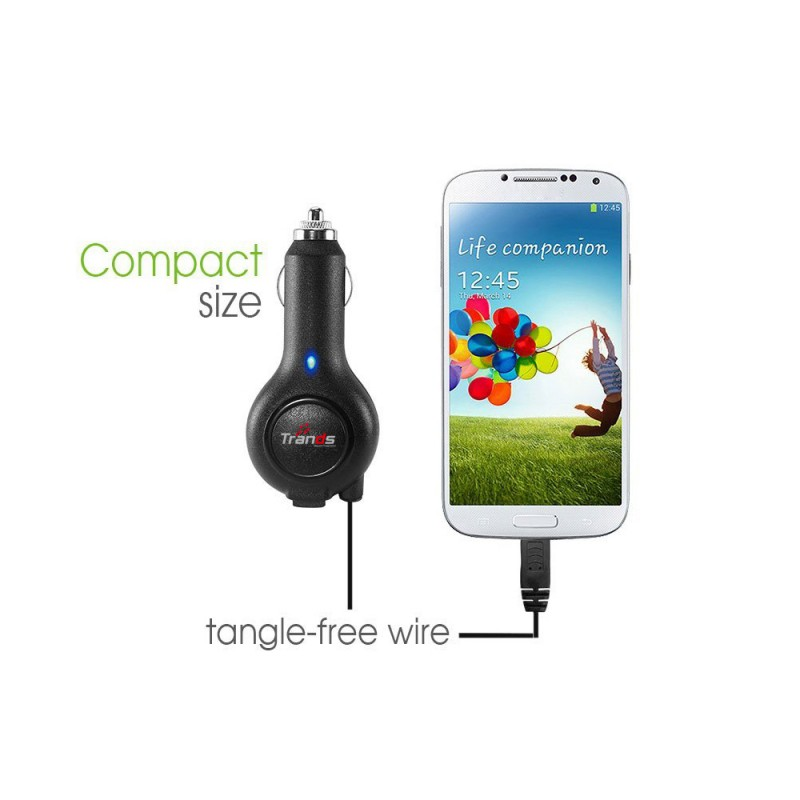 Retractable Car Charger with Micro USB Cable