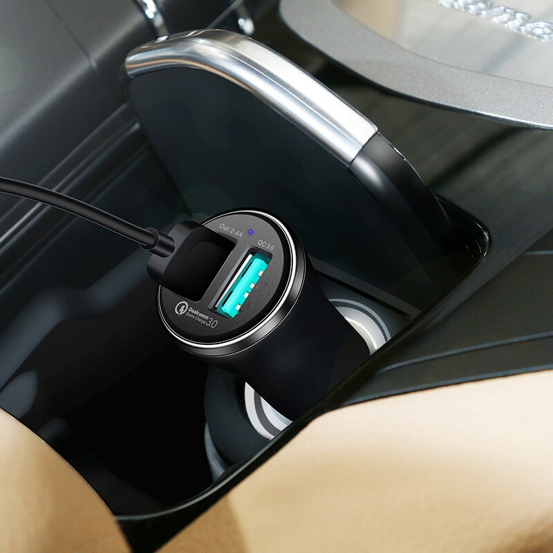 Car Charger With Type-C Cable