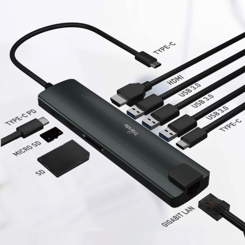 9 in 1 Multi-functional Type-C USB Hub Adapter