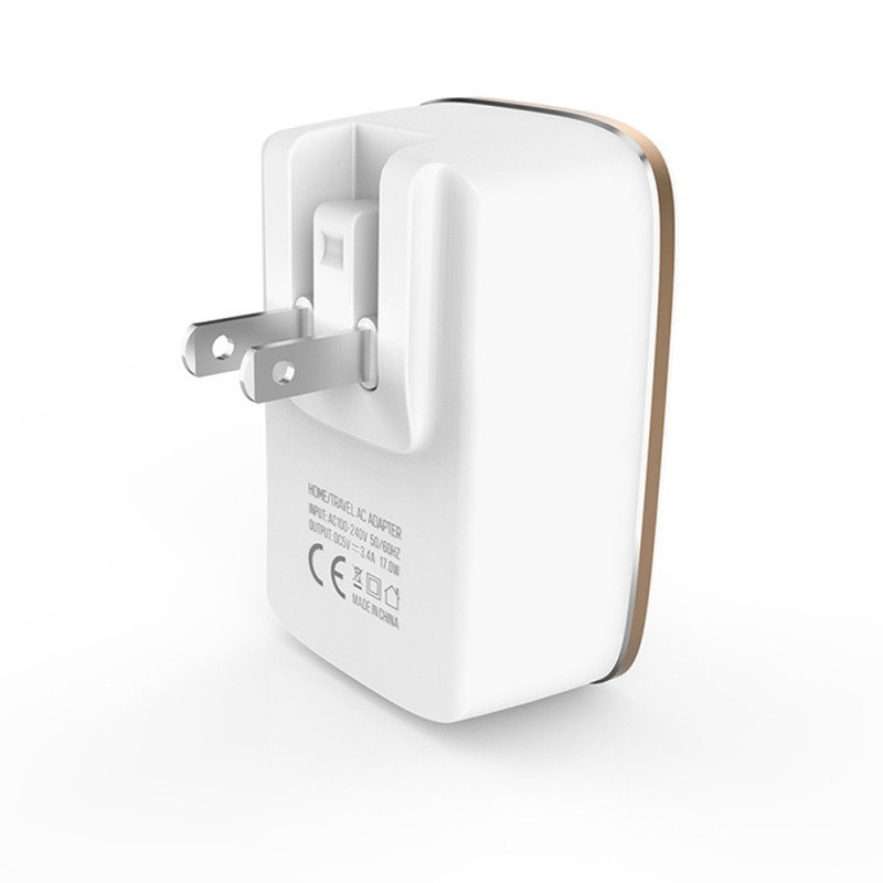 2.4A Dual Port USB Travel Charger