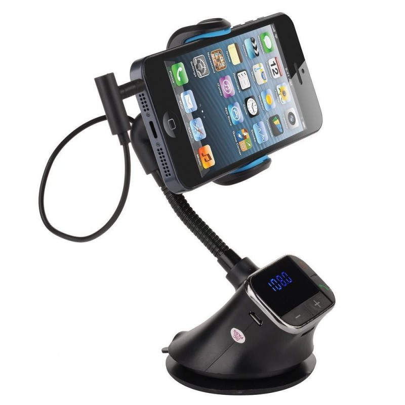 3 in 1 Car Hands Free Kit with Phone Holder, FM Modulator and Car Charger