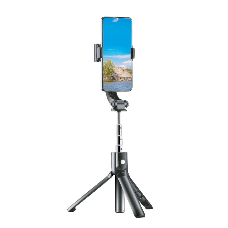 Handheld Gimbal Stabilizer with Tripod Selfie Stick
