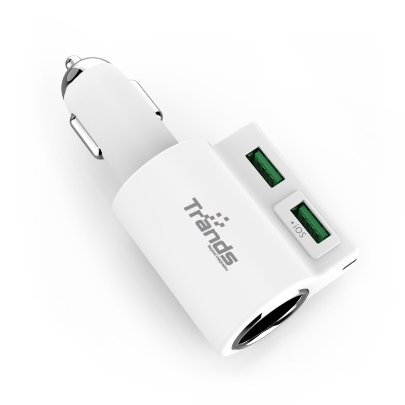 120W Dual USB Port Car Charger with Cigarette Lighter