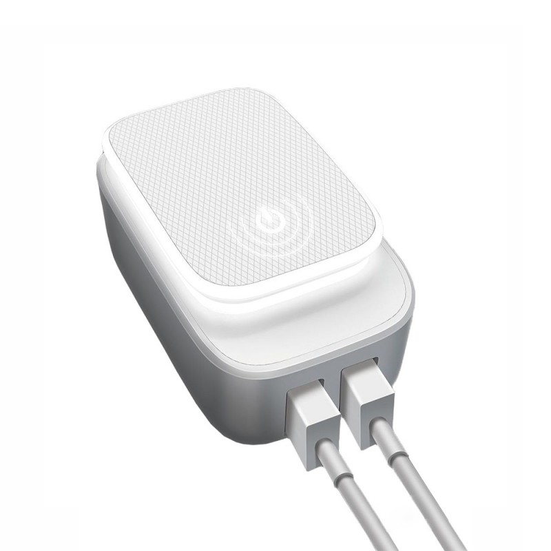 Dual USB Port Home Charger with Lightning Cable