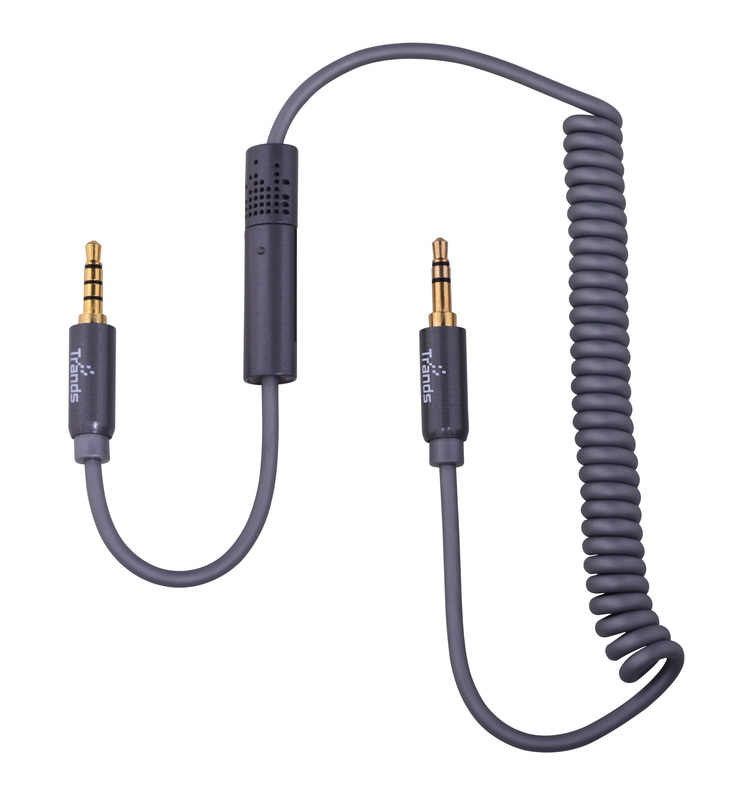 Coiled Drivers Choice Aux Cable with Mic