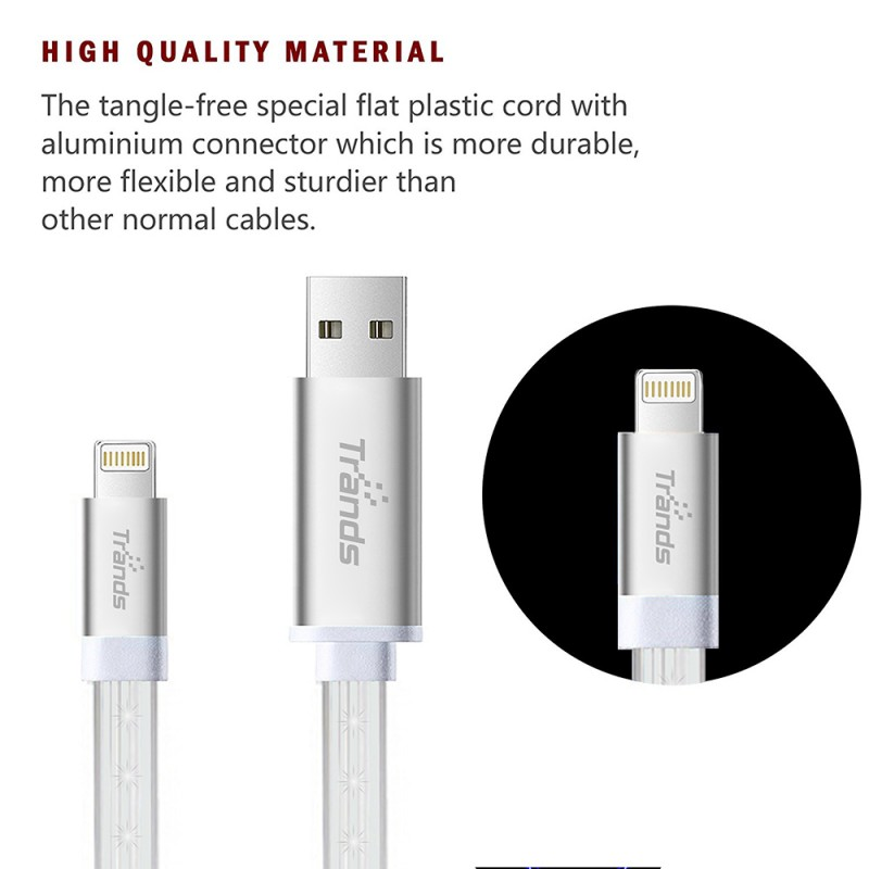 LED Flowing Lightning USB Cable