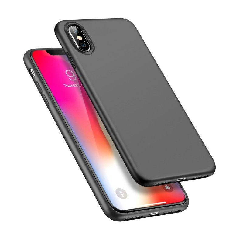 Leather Coated PC Hard Back Case for iPhone X
