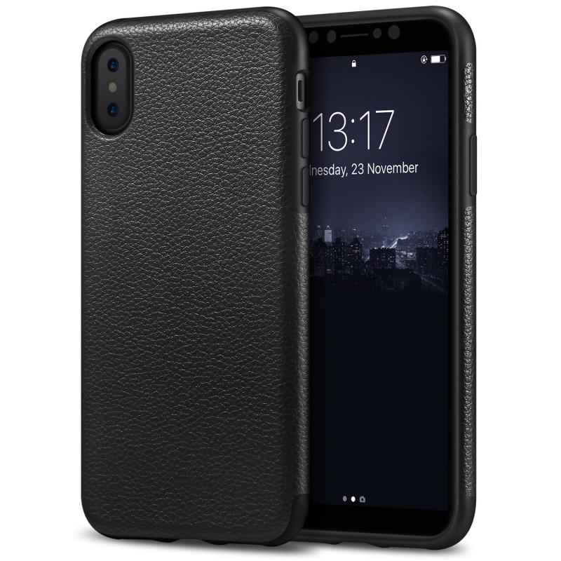 Slim Case Premium PU Leather Design for iPhone X