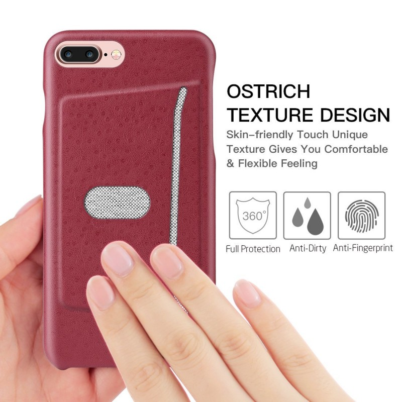 Leather Case for iPhone 7 Plus with Card Slot