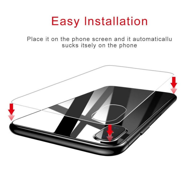 Anti-Scratch Back Protection Glass with Camera Guard for iPhone X