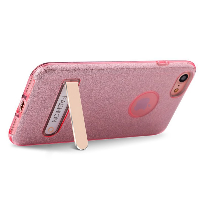 TPU Case For iPhone with Foldable Metal Kickstand