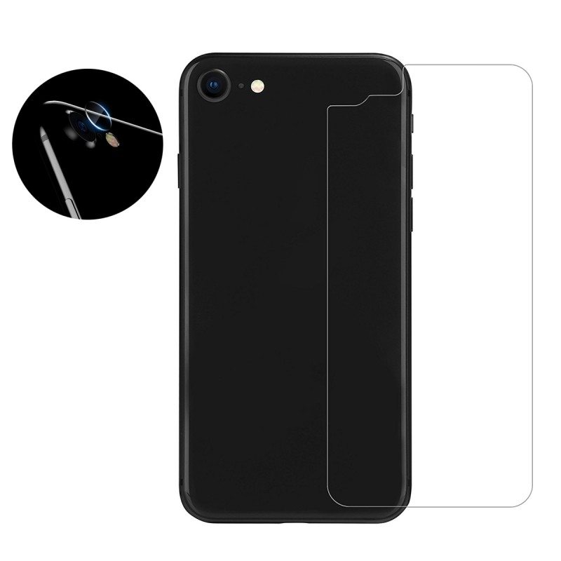 Anti-Scratch Back Protection Glass with Camera Guard for iPhone 8