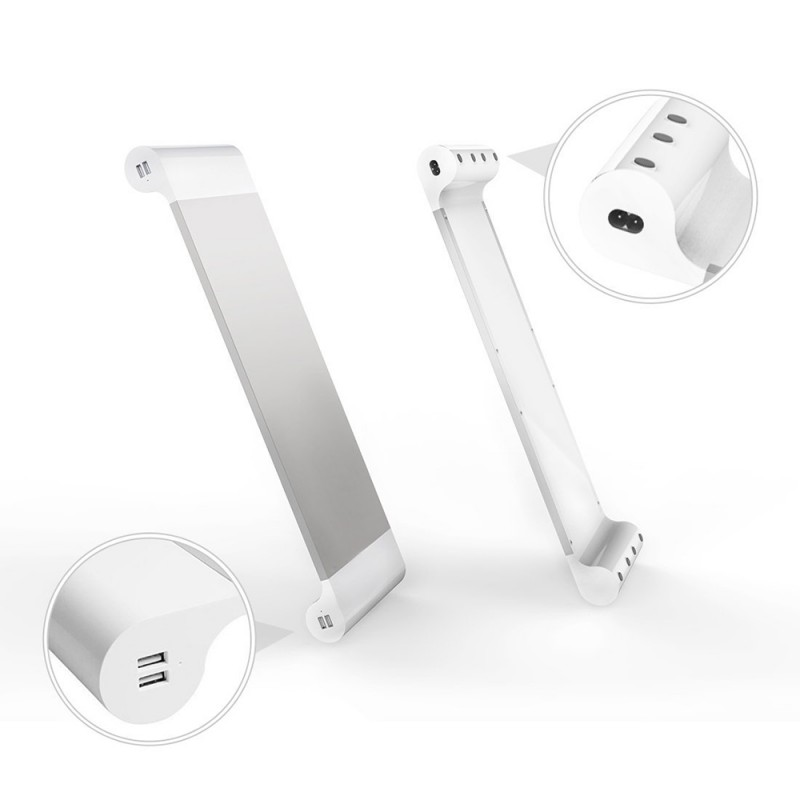 2 in 1 Monitor Stand with USB Charging Port