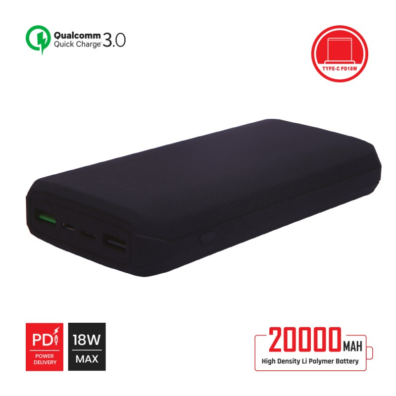 20000mAh Power Bank QC 3.0 with Power Delivery