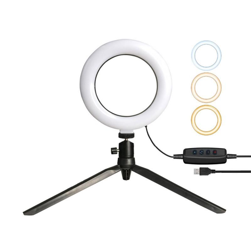 LED Ring Light Desktop Stand