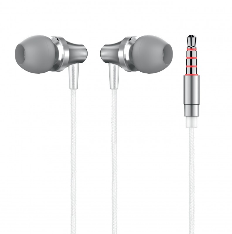 3.5mm Wired Earphone with Metal Earbuds