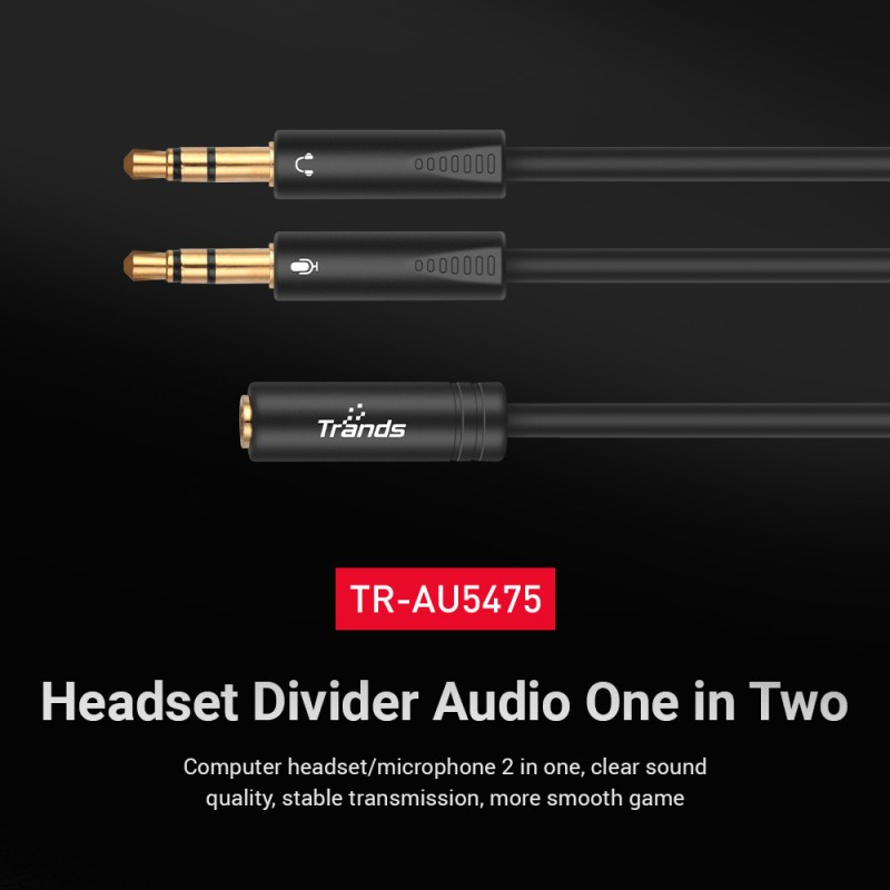 3.5mm Audio Y Splitter Cable