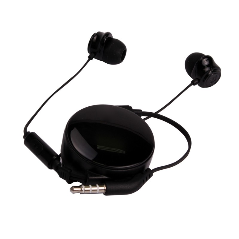 Retractable Stereo Headphone with Microphone