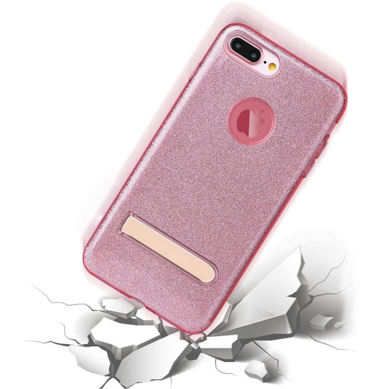 TPU Case for iPhone7 Plus with Foldable Metal Kickstand