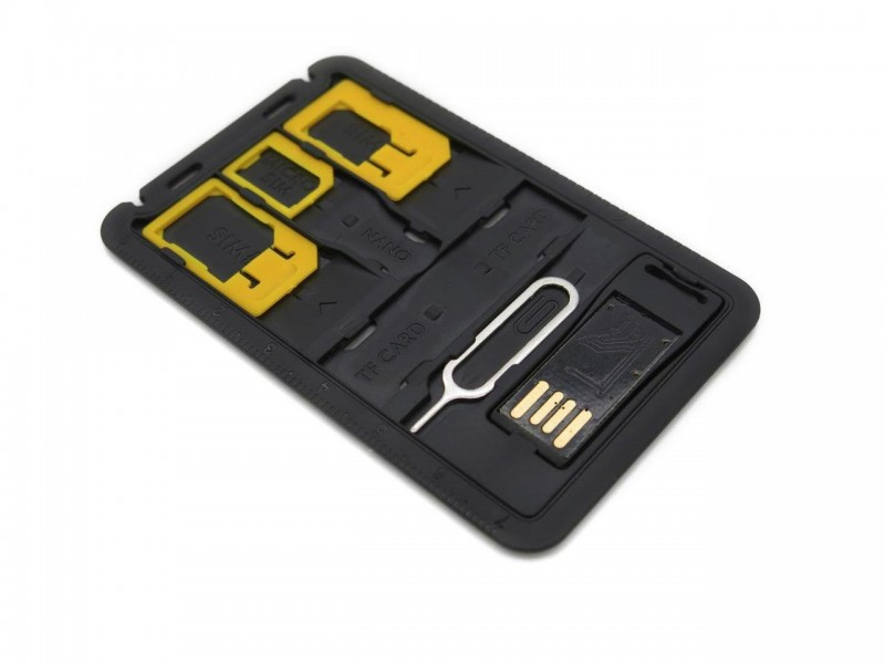 4 in 1 Sim Card Adapter Storage