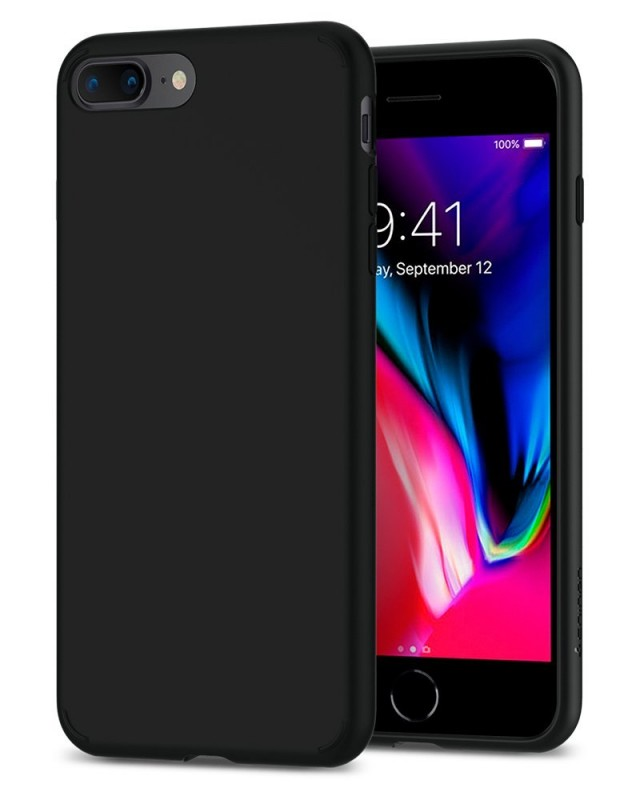 Hard Leather Back Case for iPhone 8 Plus