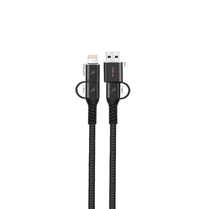 4 in 1 Cable (USB and Type-C) + (Type-C and Lightning)