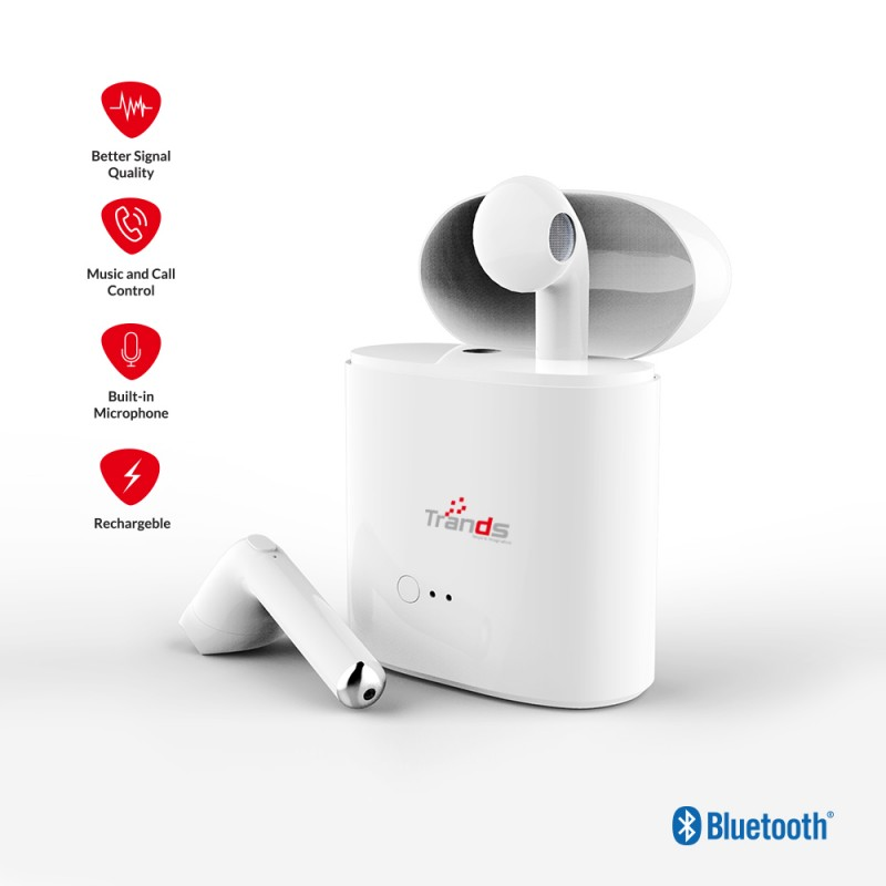 True Wireless Stereo Bluetooth Ear Pods with Charging Dock