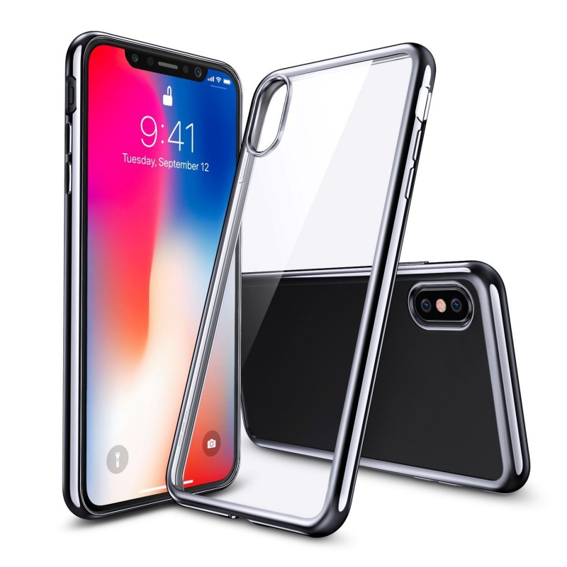 Transparent Clear Flexible TPU Case for iPhone X