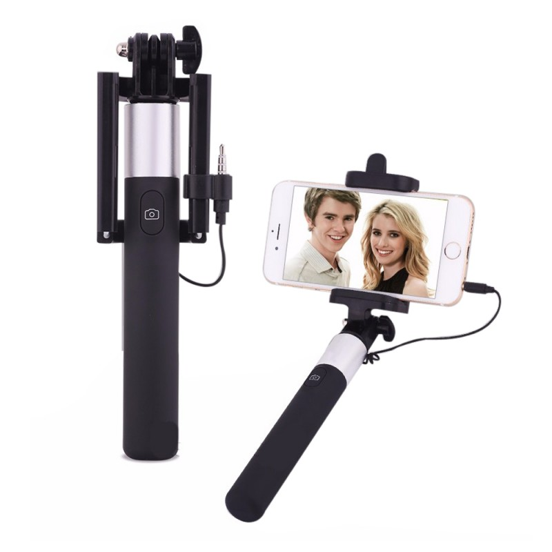 Extendable Ultra Slim Wired Selfie Stick