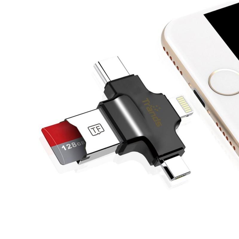 4 in 1 Micro SD TF Card Reader