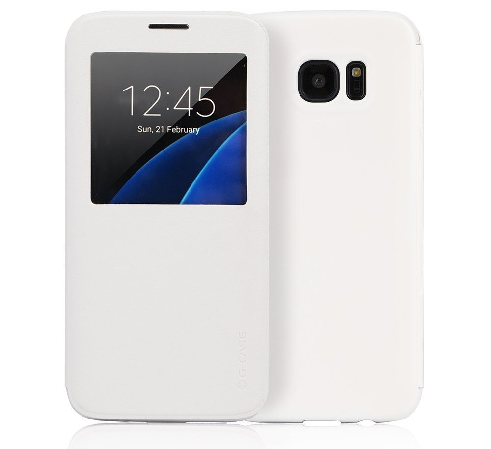 Flip Case with Display Sensor for Samsung Galaxy S7 Edge