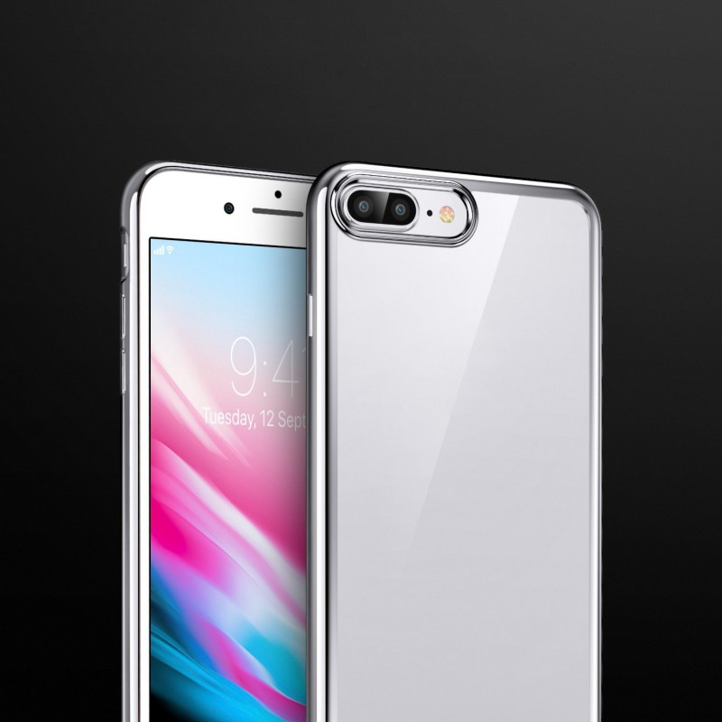 Clear Silicon Back Case for iPhone 8 Plus