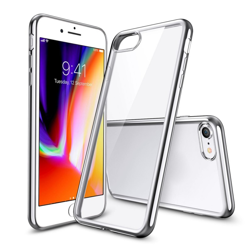 Clear Silicon Back Case for iPhone 8