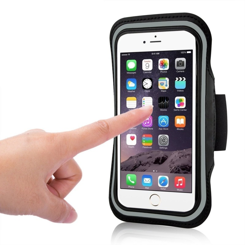 Sport Armband Mobile Phone Holder with Key Holder and Reflective Stripe